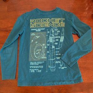 Lands End | Boys Long Sleeve Rocket Science Shirt